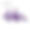 Lot de 5 perles en papier - quille violet