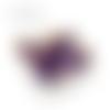 Lot de 5 perles en papier - violet et or