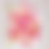 Confettis fait-main, décoration fête, nuage blanc, montgolfière, étoile, rose, jaune, baptême, anniversaire, table, fille, bébé