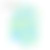 Confettis poissons - bleu vert