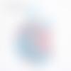 Confettis oiseaux - rose bleu
