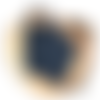 Eponges japonaises tawashi, zéro déchet, bleu foncé, écologique, trapilho, vaisselle, ménage, x2