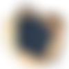 Lot éponges tawashi - bleu foncé