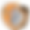 Lot éponges tawashi - orange noir blanc