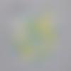 Confettis montgolfières, nuages et étoiles - jaune blanc bleu