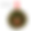 Décoration de porte - couronne nain - mousse végétale, champignon, grelot