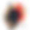 Lot 2 éponges tawashi - bleu marine et rouge