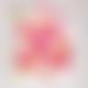 Confettis montgolfières fuchsia, nuages blancs et étoiles couleur au choix