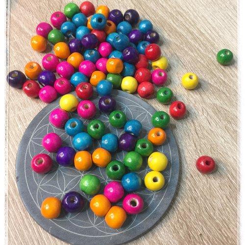 10 perles bois naturelles 18 mm
