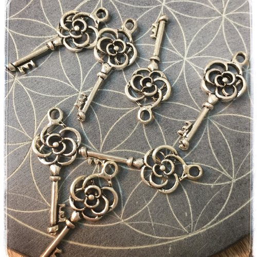 3 breloques pendentifs clefs