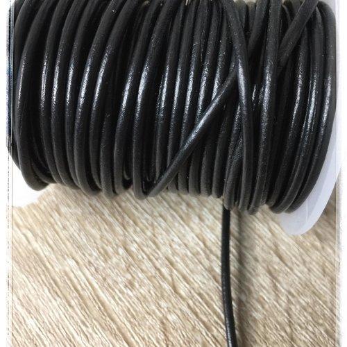1 m fil cuir  / origine france /  2 mm/ qualité aaa