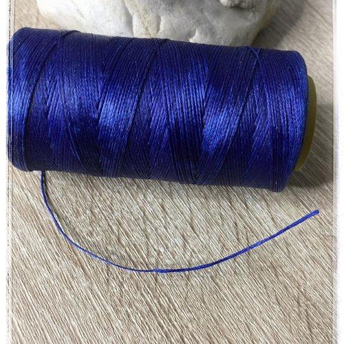 Fil polyester ciré  0,75 mm bleu roi