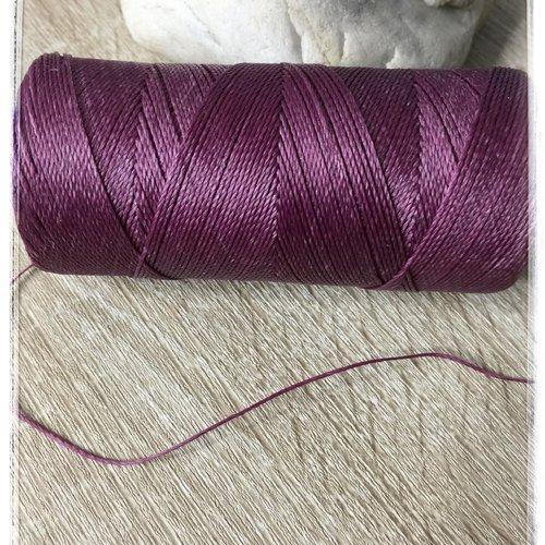 Fil polyester ciré  0,75 mm violet