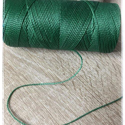 Fil polyester ciré  1 mm vert sapin