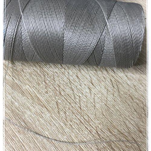 Fil polyester ciré  0,75 mm  gris