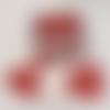 Panier de 14 lingettes en forme de coeur lavables oeko tex