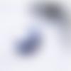 Créoles bleues et argentées