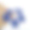 6 sequins goutte en résine époxy bleu, 22mm