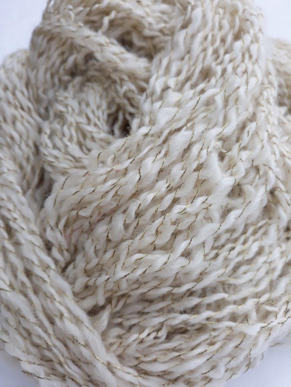 VENDU Alpaga Echeveau pure laine Filé à la main
