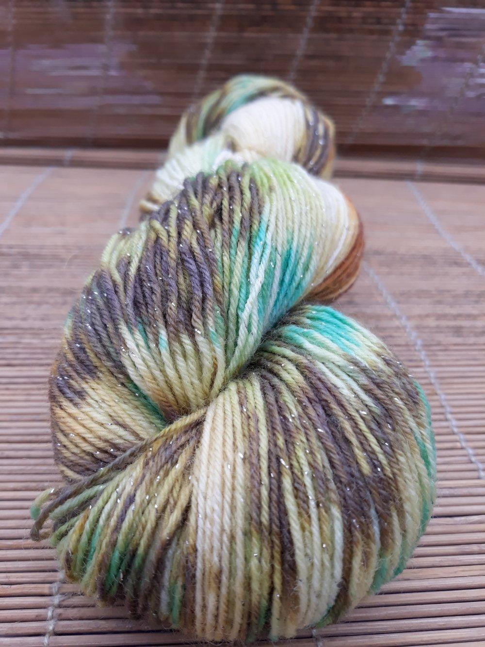 Echeveau laine peint à la main