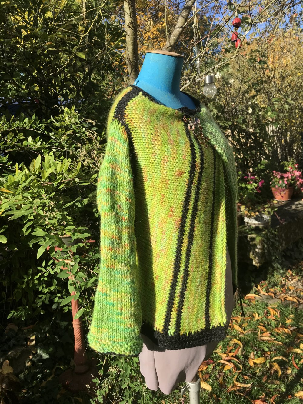 Gilet tricoté main