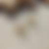 Boucles d'oreilles romy, éventail art déco et cabochon labradorite