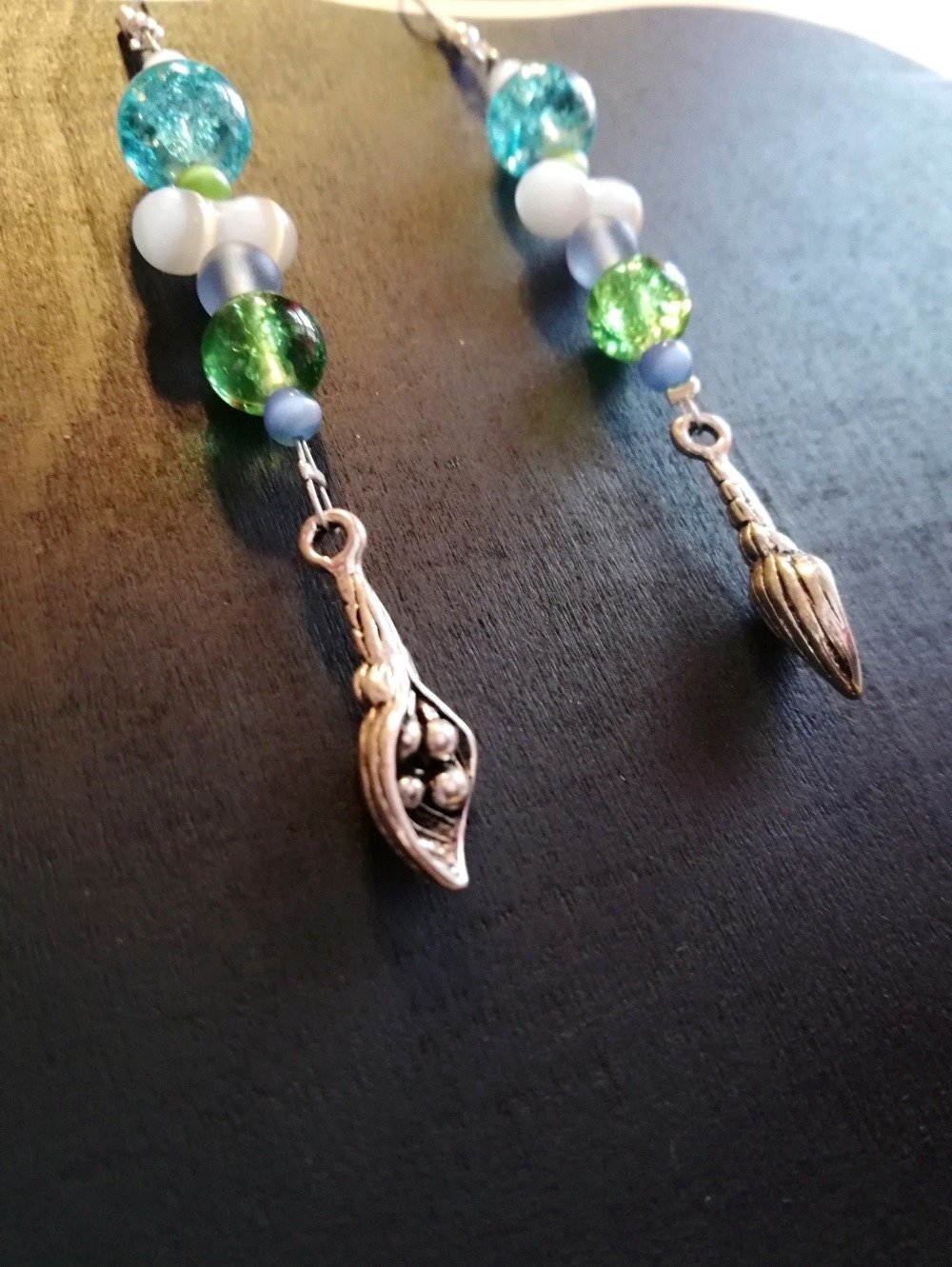 Boucles d'oreilles coquillages et perles
