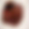 4 boutons vintage marron