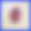 Bague spirale en fimo bleu blanc rouge