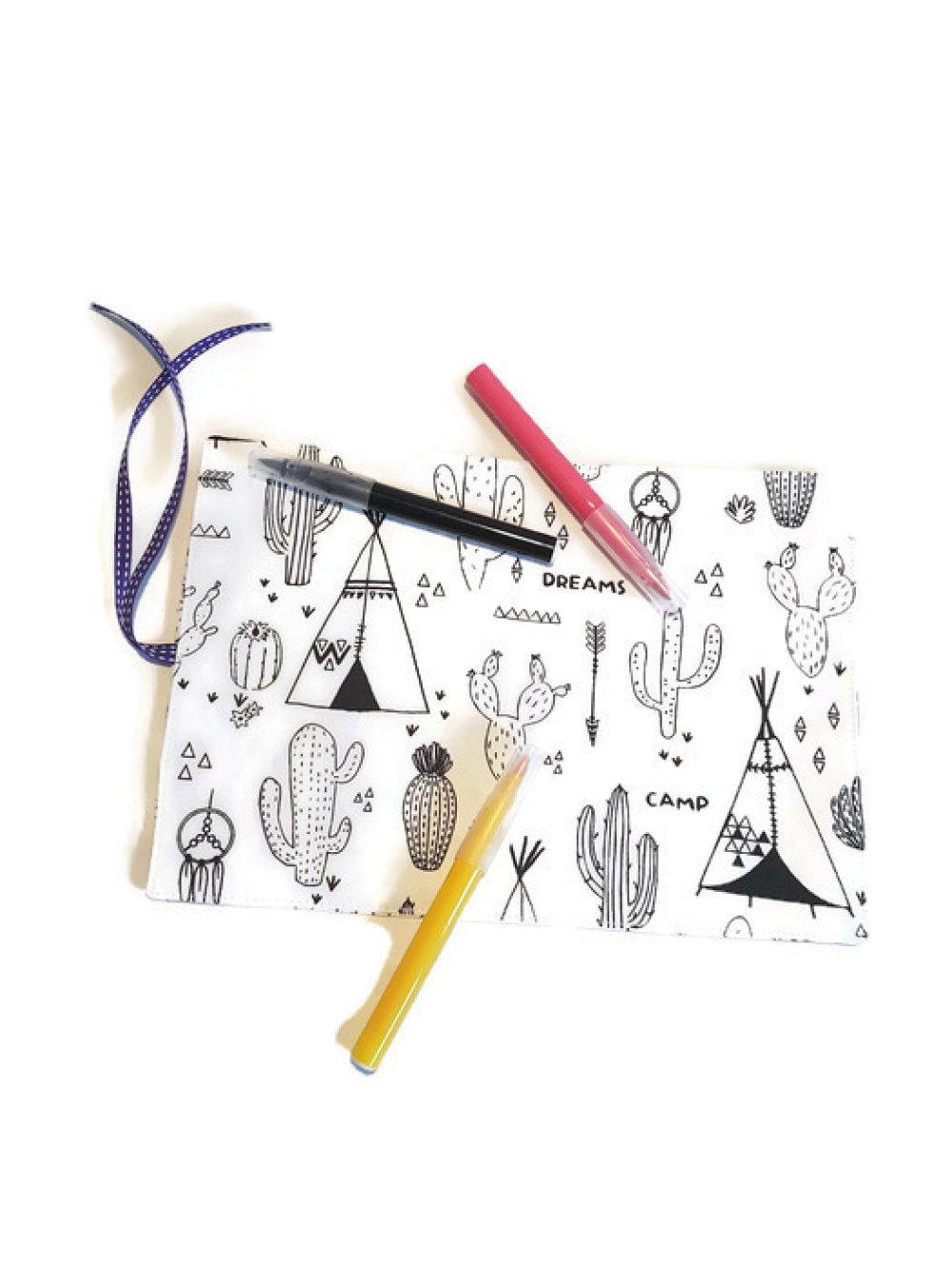 feuille à colorier Cactus (Recto/Verso)