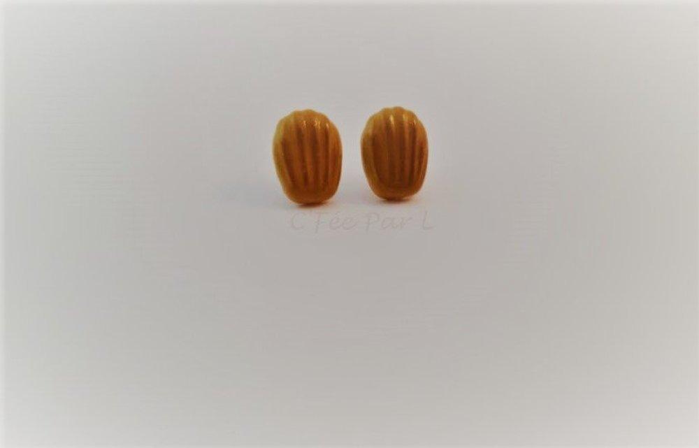 Boucles d'oreilles petites madeleines