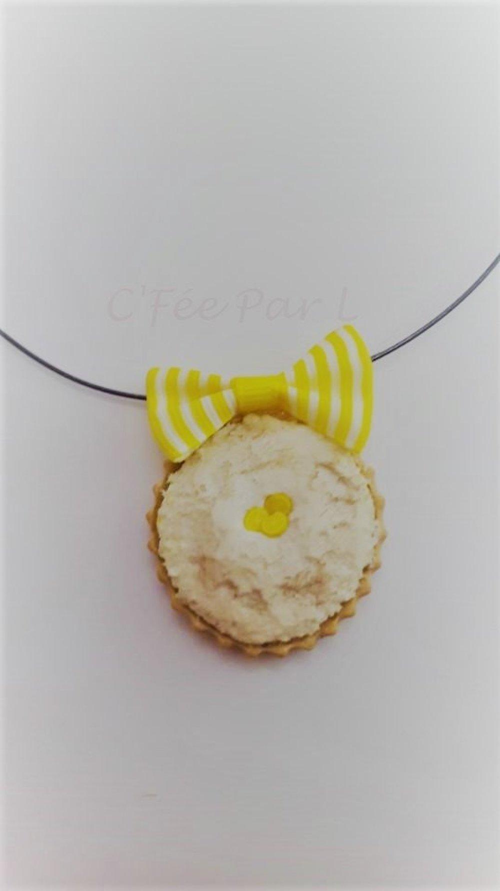 Collier Tarte Citron Meringuée