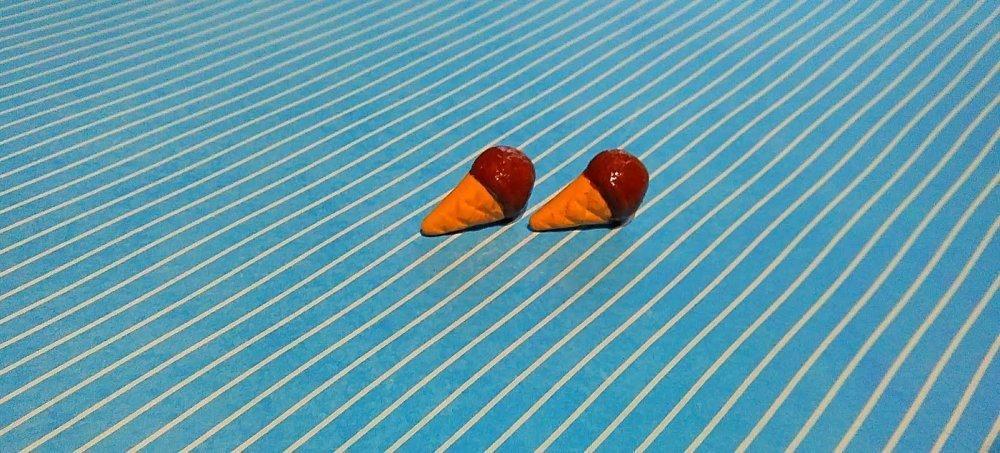 Boucles d'oreilles Glace Chocolat