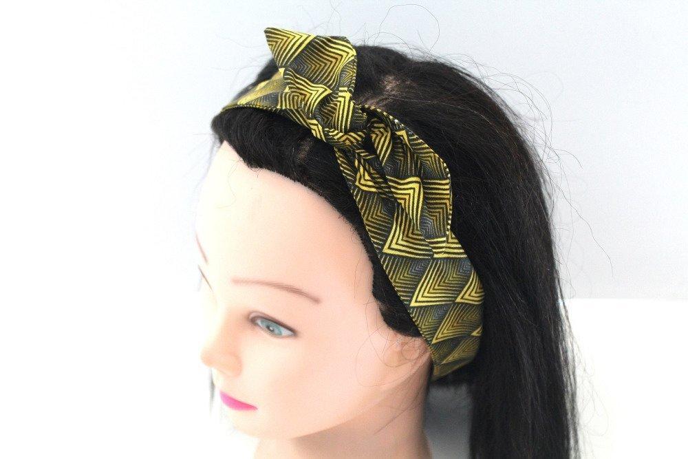 Bandeau rigide femme jaune et noir