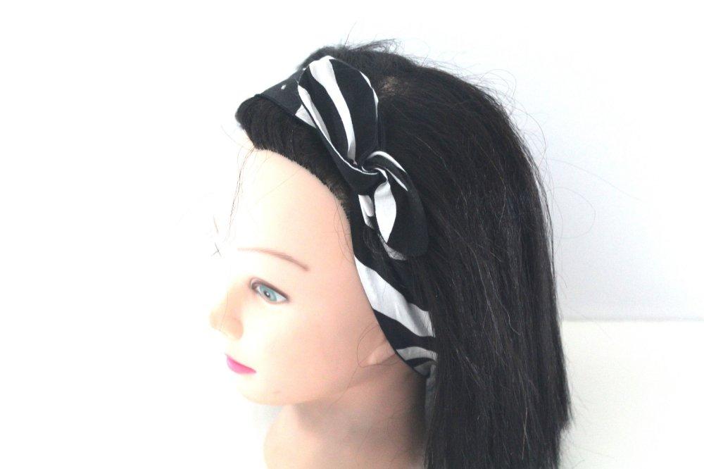 Bandeau rigide femme noir et blanc