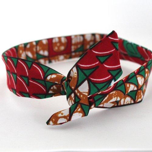 Bandeau rigide femme africain wax