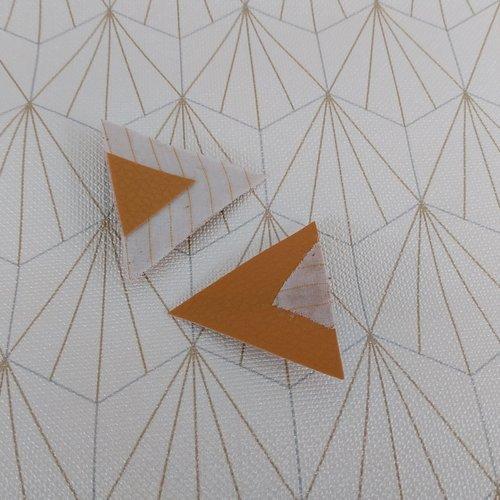 """Barrettes triangles """"art déco"""""""