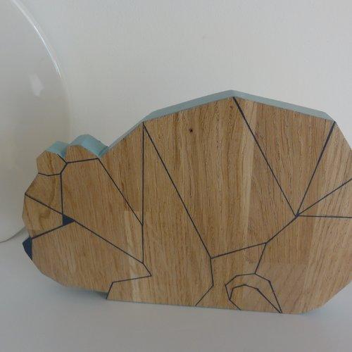 Ourson bois origami