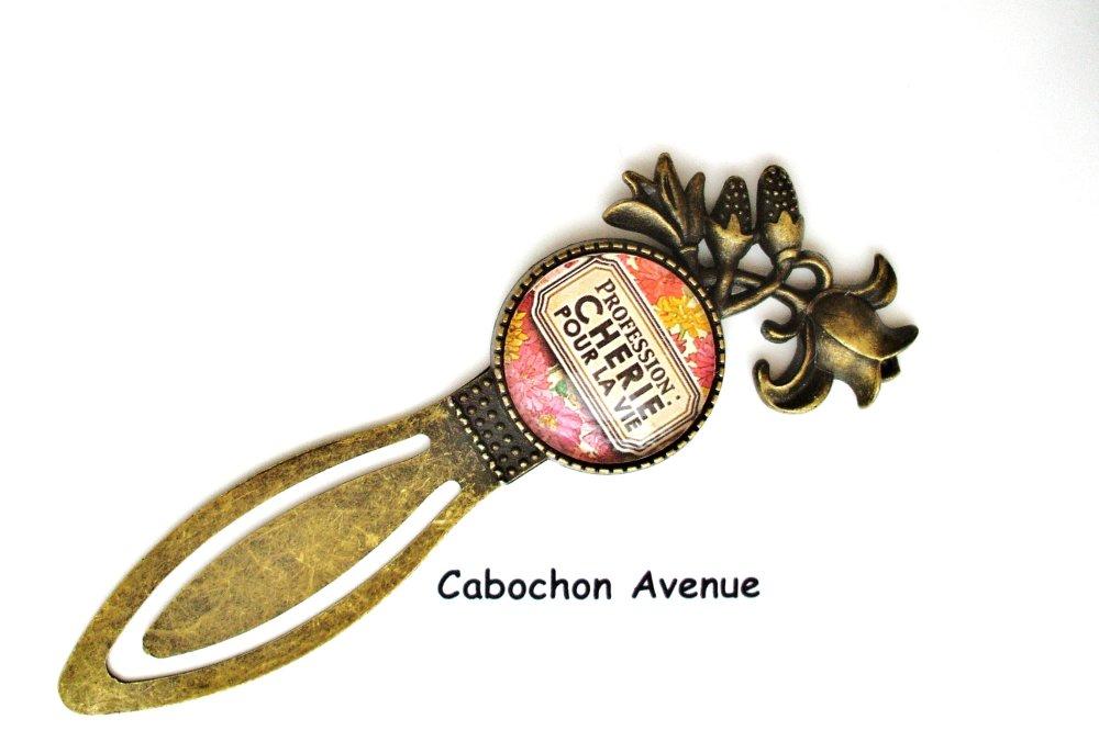 Bijou fantaisie SAINT-VALENTIN Love amour chérie coeurs bracelet jonc bronze cabochon verre idée cadeau SAINT-VALENTIN fête des amoureux