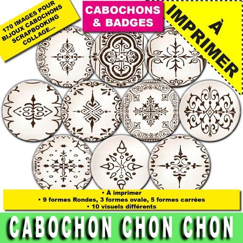 170 images cabochon badge rond ovale carré rosace floral à télécharger à imprimer images digitales