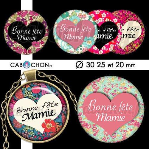 Bonne Fête Mamie Vl 45 Images Digitales Rondes 30 25 Et