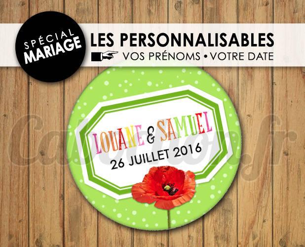MARIAGE Les Personnalisables ☆ Images Digitales à personnaliser pour les MARIAGES - 013