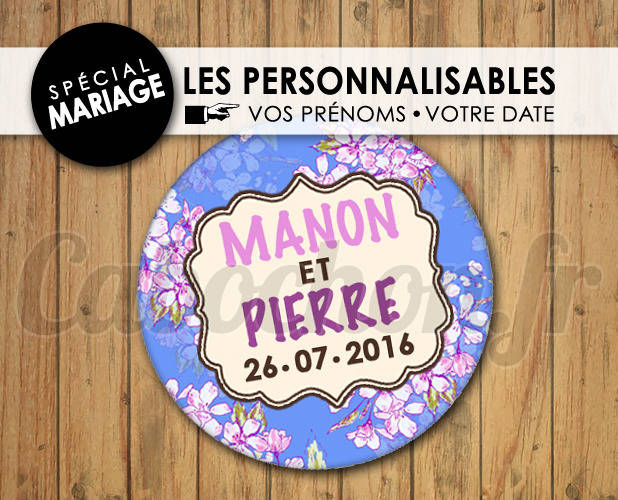 MARIAGE Les Personnalisables ☆ Images Digitales à personnaliser pour les MARIAGES - 010