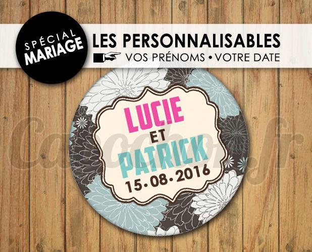 MARIAGE Les Personnalisables ☆ Images Digitales à personnaliser pour les MARIAGES - 009