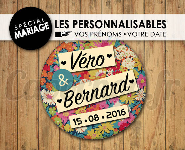 MARIAGE Les Personnalisables ☆ Images Digitales à personnaliser pour les MARIAGES - 006