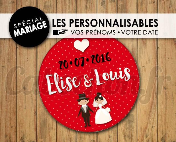 MARIAGE Les Personnalisables ☆ Images Digitales à personnaliser pour les MARIAGES - 002