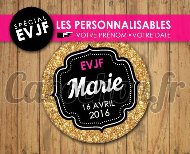 EVJF Les Personnalisables ☆ Images Digitales à personnaliser pour les EVJF - 012