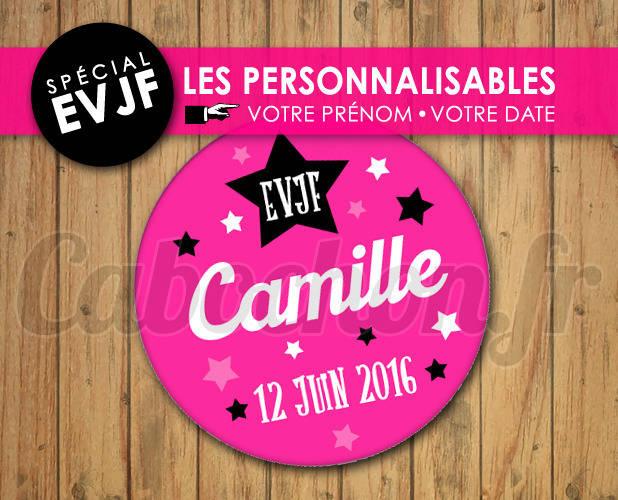 EVJF Les Personnalisables ☆ Images Digitales à personnaliser pour les EVJF - 010