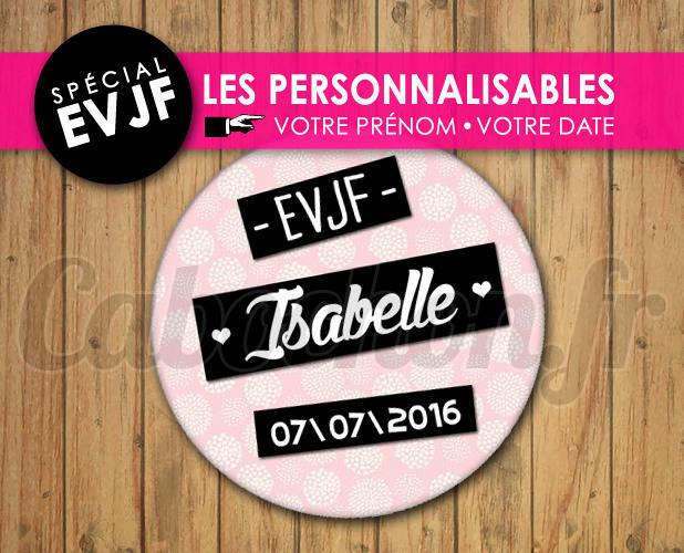 EVJF Les Personnalisables ☆ Images Digitales à personnaliser pour les EVJF - 005
