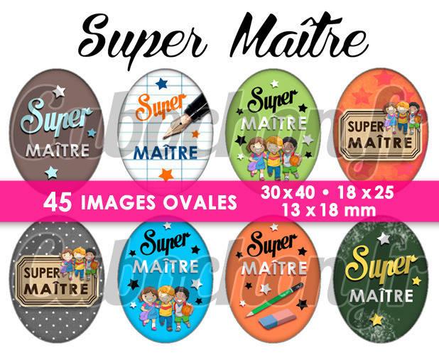 Super Maître ☆ 45 Images Digitales Numériques OVALES 30x40 18x25 et 13x18 mm Page digitale pour cabochons